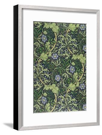 Seaweed Wallpaper Design, printed by John Henry Dearle-William Morris-Framed Premium Giclee Print