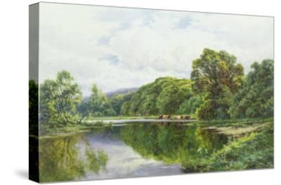 The Thames Near Henley-Henry Parker-Stretched Canvas Print