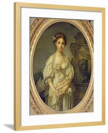 The Broken Pitcher, c.1772-73-Jean-Baptiste Greuze-Framed Giclee Print