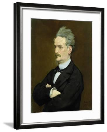 The Journalist Henri Rochefort-Edouard Manet-Framed Giclee Print