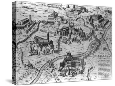 Le Sette Chiesa di Roma, 1575-Antonio Lafreri-Stretched Canvas Print