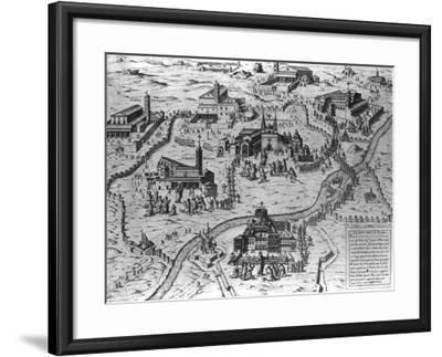 Le Sette Chiesa di Roma, 1575-Antonio Lafreri-Framed Giclee Print