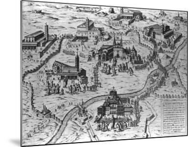 Le Sette Chiesa di Roma, 1575-Antonio Lafreri-Mounted Giclee Print