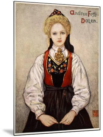 Country Girl from Dalen, 1905-Nico Jungman-Mounted Giclee Print