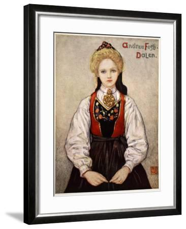 Country Girl from Dalen, 1905-Nico Jungman-Framed Giclee Print