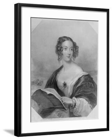 Emily Mary, Countess Cowper-John Hayter-Framed Giclee Print