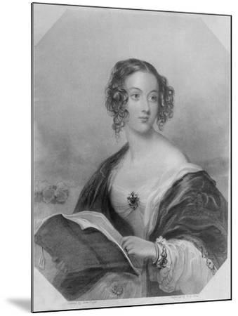 Emily Mary, Countess Cowper-John Hayter-Mounted Giclee Print