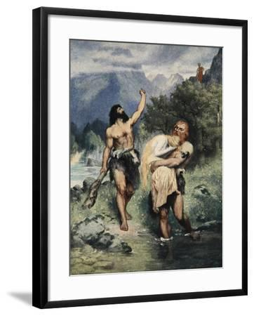 The Giants Bore Freia away, from 'The Stories of Wagner's Operas' by J. Walker McSpadden-Ferdinand Leeke-Framed Giclee Print