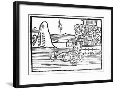 Illustration from 'The Voyage of St. Brendan'--Framed Giclee Print