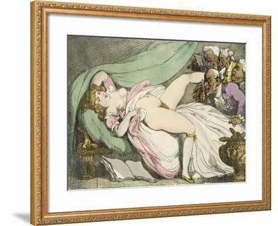 The Prostitute Observed, 1808-17-Thomas Rowlandson-Framed Giclee Print
