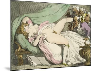The Prostitute Observed, 1808-17-Thomas Rowlandson-Mounted Giclee Print