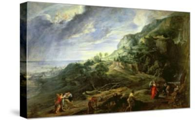 Ulysses on the Phaecian Island-Peter Paul Rubens-Stretched Canvas Print