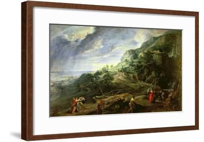 Ulysses on the Phaecian Island-Peter Paul Rubens-Framed Giclee Print