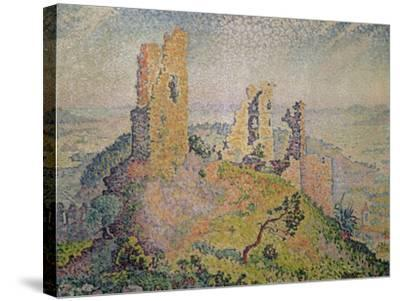 Landscape with a Ruined Castle-Paul Signac-Stretched Canvas Print