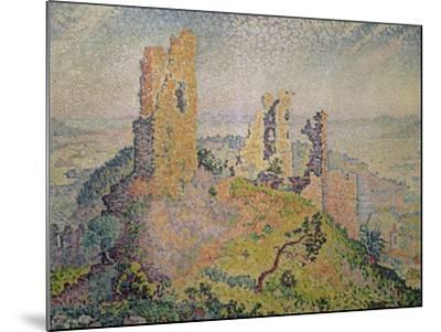Landscape with a Ruined Castle-Paul Signac-Mounted Giclee Print