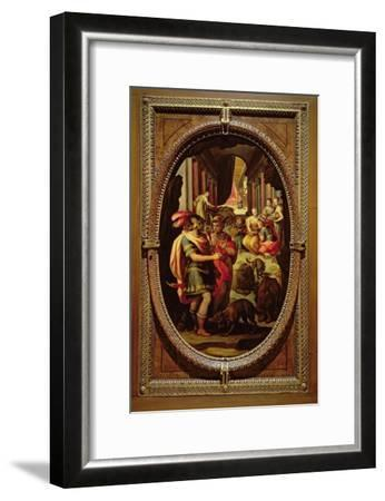 Ulysses, Mercury and Circe, 1570-Jan van der Straet-Framed Giclee Print