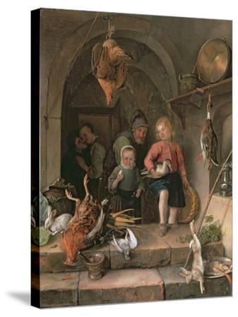 The Game Larder-Jan Havicksz Steen-Stretched Canvas Print
