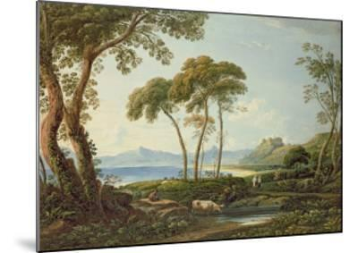Landscape with Harlech Castle-John Varley-Mounted Giclee Print