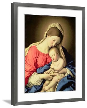 Madonna and Child-Giovanni Battista Salvi da Sassoferrato-Framed Giclee Print