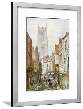 A View of Irongate, Derby-Louise J^ Rayner-Framed Giclee Print