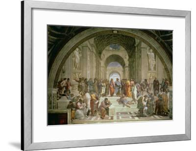 School of Athens, from the Stanza della Segnatura, 1510-11-Raphael-Framed Giclee Print