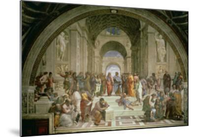 School of Athens, from the Stanza della Segnatura, 1510-11-Raphael-Mounted Giclee Print