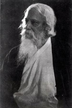 Sir Rabindranath Tagore--Stretched Canvas Print