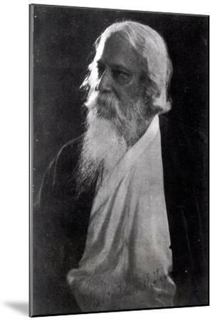 Sir Rabindranath Tagore--Mounted Giclee Print