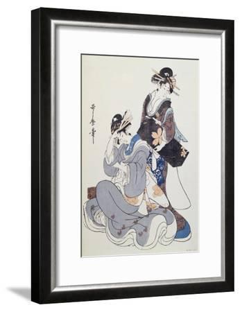 Two Female Figures-Kitagawa Utamaro-Framed Giclee Print