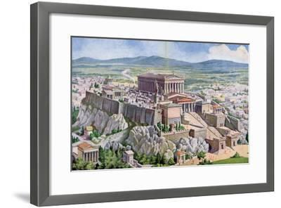 The Acropolis in Athens in Ancient Greece, 1914-G. Rehlender-Framed Giclee Print
