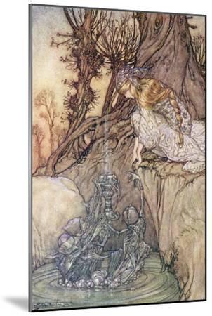 The Enchanted Goblet, c.1908-Arthur Rackham-Mounted Giclee Print