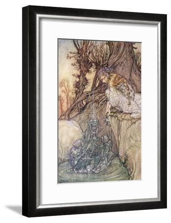 The Enchanted Goblet, c.1908-Arthur Rackham-Framed Giclee Print