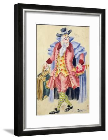 Costume Design for Mozart's 'The Marriage of Figaro', 1936-Jakov Zinovyevich Stoffer-Framed Giclee Print