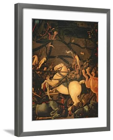 The Battle of San Romano in 1432, c.1456-Paolo Uccello-Framed Giclee Print