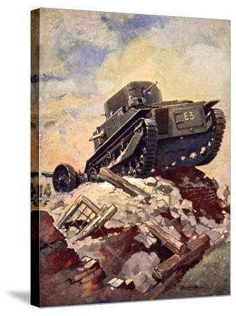 A First World War Tank-J. Allen Shuffrey-Stretched Canvas Print