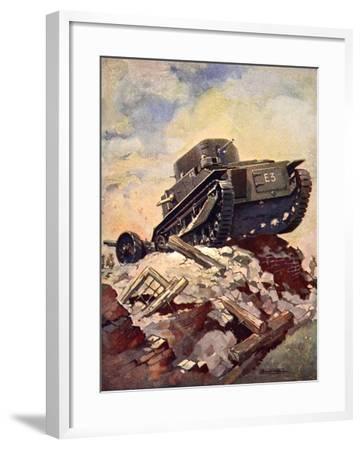 A First World War Tank-J. Allen Shuffrey-Framed Giclee Print