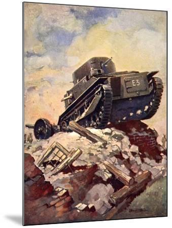 A First World War Tank-J. Allen Shuffrey-Mounted Giclee Print