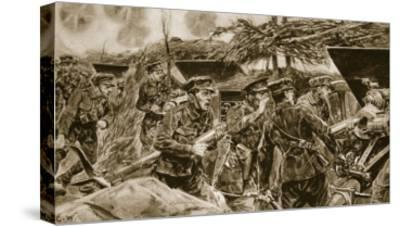 Keep your mouths open!' from 'The Illustrated War News', 1916-Richard Caton Woodville-Stretched Canvas Print