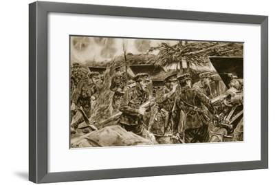 Keep your mouths open!' from 'The Illustrated War News', 1916-Richard Caton Woodville-Framed Giclee Print