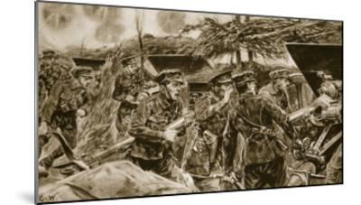 Keep your mouths open!' from 'The Illustrated War News', 1916-Richard Caton Woodville-Mounted Giclee Print