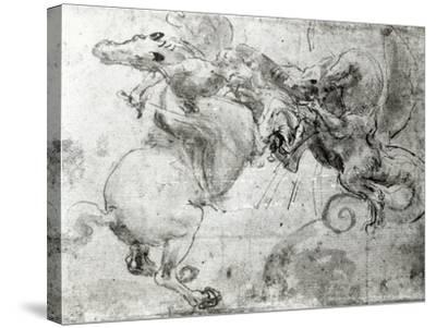 Battle between a Rider and a Dragon, c.1482-Leonardo da Vinci-Stretched Canvas Print