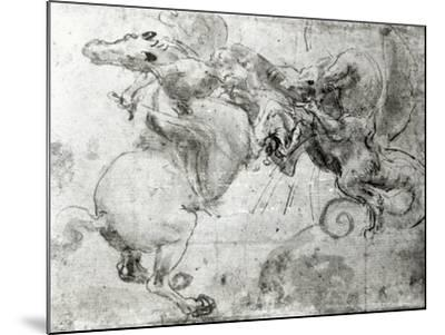 Battle between a Rider and a Dragon, c.1482-Leonardo da Vinci-Mounted Giclee Print