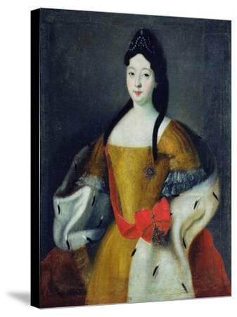 Portrait of Tsarevna Anna Petrovna, 1740s--Stretched Canvas Print