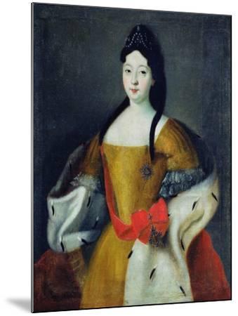 Portrait of Tsarevna Anna Petrovna, 1740s--Mounted Giclee Print