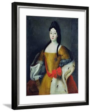 Portrait of Tsarevna Anna Petrovna, 1740s--Framed Giclee Print