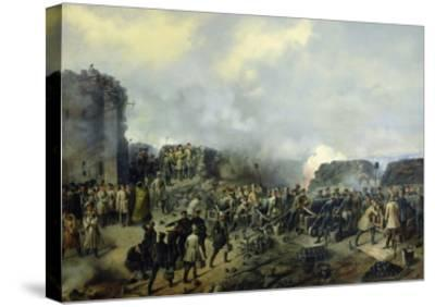 The French-Russian Battle at Malakhov Kurgan in 1855, 1856-Grigory Shukayev-Stretched Canvas Print