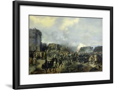 The French-Russian Battle at Malakhov Kurgan in 1855, 1856-Grigory Shukayev-Framed Giclee Print