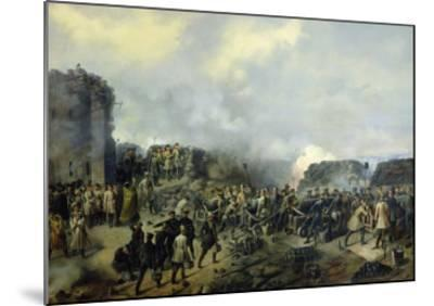 The French-Russian Battle at Malakhov Kurgan in 1855, 1856-Grigory Shukayev-Mounted Giclee Print