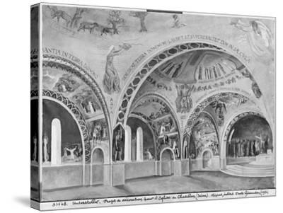 Set Design for the Church of Chatillon-Nicolas Untersteller-Stretched Canvas Print