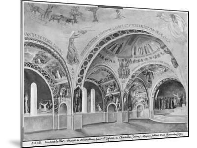Set Design for the Church of Chatillon-Nicolas Untersteller-Mounted Giclee Print